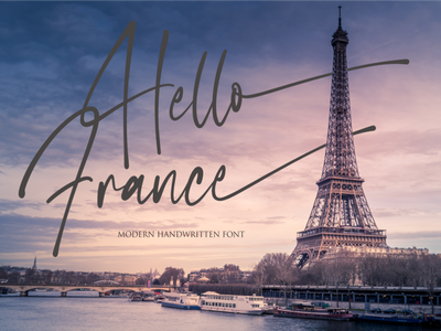 Hello France illustration vector typography lettering icon font design branding logo motion graphics graphic design 3d animation ui