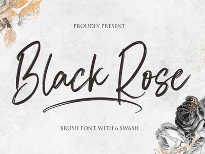 Black Rose ui logo illustration vector typography lettering icon font design branding