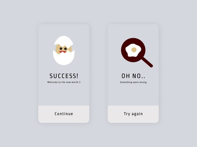 Success and error messages for an app !