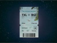 Boarding pass! Daily UI 024=)