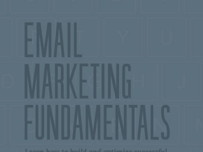 Email Marketing Ebook Cover illustration gray blue muted sans serif typography type marketing email ebook