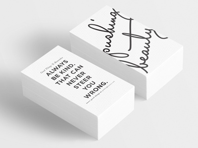 My Business Cards dots bold quote logo lettering business card