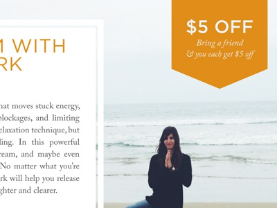 Breathwork Flyer  orange breathwork promo discount beach meditation type flyer