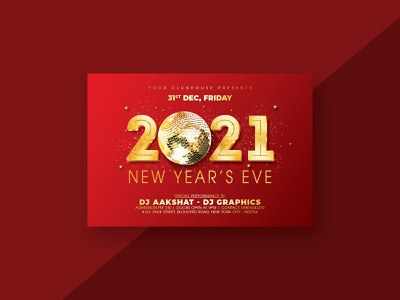 New Year Flyer spring club flyer template flyer design flyer club flyer christmas flyer christmas party christmas new year flyer new year party new year 2021 new years resolution new years eve new year