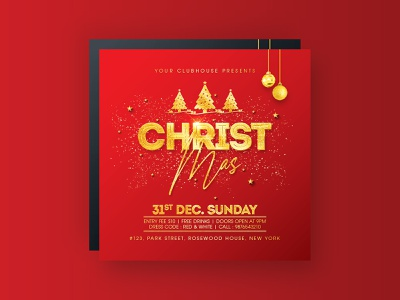 Christmas Flyer christmas eve new years eve new year spring celebration club flyer template flyer flyer design club flyer merry xmas merrychristmas merry christmas christmas flyer christmas party christmas tree christmas card christmas