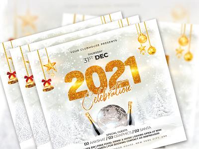 New Year Flyer club celebration flyer template flyer club flyer christmas xmas new year party new years eve new year 2021 happy new year 2021 flyer design happy new year new year