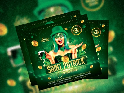 Saint Patrick's Day Flyer club flyer design flyer club flyer st patrick day st patricks day st patricks st patrick patrick lee zepeda patricks day patricks patrick saint patrick day saint patricks day saint patricks saint paddys saint patrick