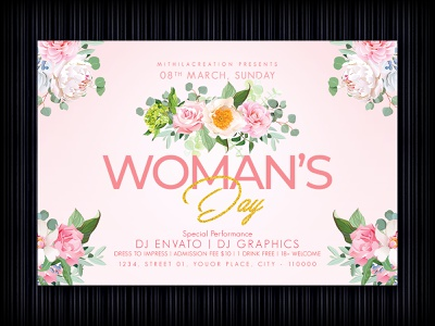Women's Day Flyer women day march 8 ladies night flyer ladies night love celebration club flyer template club flyer flyer design flyer woman womansday womans day 8march womens march womensday womens women womens day