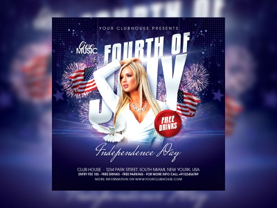4th Of July Flyer flyer template flyer design club flyer independence independence day flyer spring summer american flag american america usa 4th july flyer 4th july party 4th of july party 4th of july flyer 4thjuly 4thofjuly 4th july 4th of july