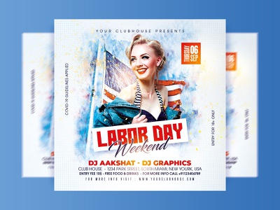 Labor Day Flyer memorial day memorial usa flag usa american flag american america independence day independence july 4thofjuly 4th july 4th of july holiday weekend labor day weekend happy labor day laborday labor day labor