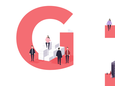 Animated illustrations for a GDPR service