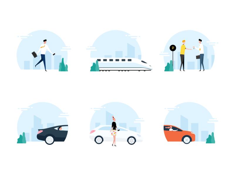 Illustration Set Mobility App
