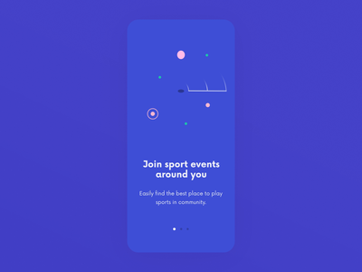 Sport Mobile App Onboarding Animations lottie onboarding illustration onboarding ui onboarding app ui designer colorful social platform social 2d animation 2d animated animation ux design ui design sport app