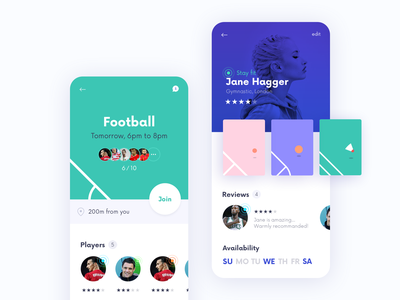 Sport Mobile App UI Screens branding interface illustration idean design user interface ux ux design app design sport app sport interfacedesign ui design ui