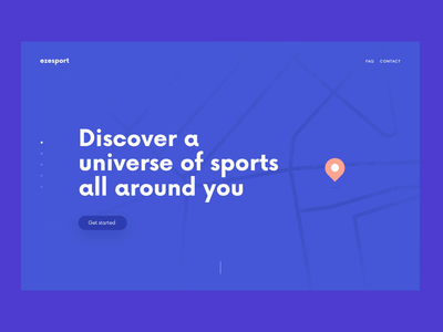 Sport onepage website