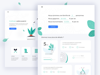 Smart Investment Calculator Website landing page plants ux identity website design loans calculator banking vector interface illustration ui user interface design