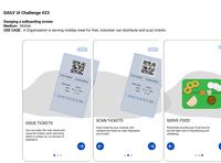 Onboarding screens of app