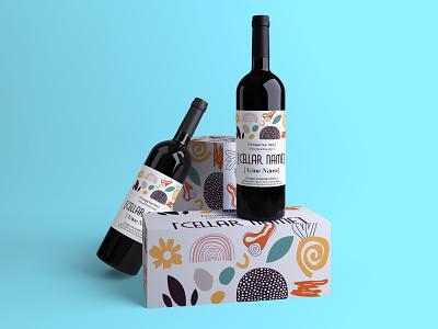 Wine Packaging Design winery packaging label design can label beer label wine bottle wine label canva template canva graphic design design label bottle mockup bevarage free mockup psd free mockup branding