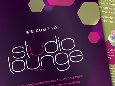 Studio lounge flyer