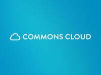 Updated CommonsCloud logo type