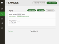 Family management page