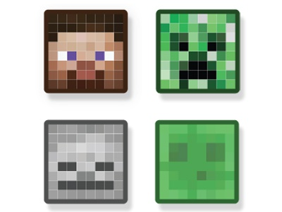 Minecraft Character Mob Badges By Craig Cragum Smith On
