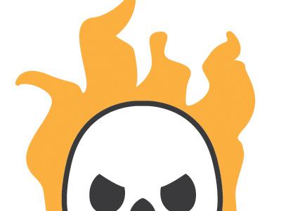 Flaming Skull  skull cragum flame illustrator