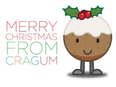 Christmas Pudding Love  merry christmas pudding cragum illustration illustrator