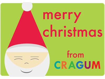 Santa card dribbble