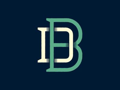 Monogram lettering custom typography monogram