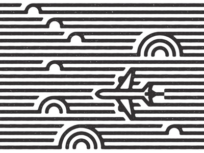 Through the clouds linework aerospace airplane clouds
