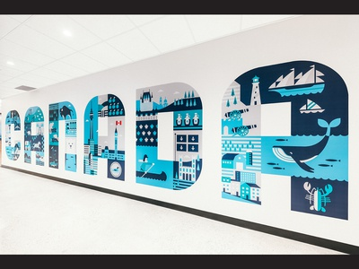 Uptake Canada Mural canada office mural vector illustration