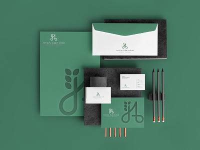 JA logo graphic design ui design agriculture branding logo