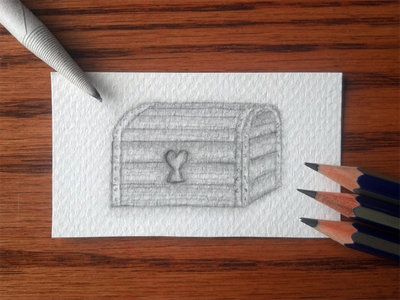 Edwin's Treasure game trading concept card edwin treasure 2h hb b tortillon textured paper one-point perspective