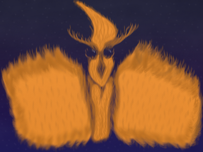 Emberd game trading concept card brush emberd bird flame paint photoshop
