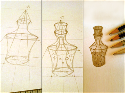 Standard Health Potion № 44 (Process) game trading concept card potion 2h hb b tortillon one-point perspective