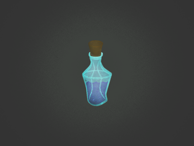 Standard Health Potion № 44 game trading concept card potion one-point perspective