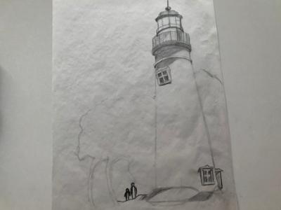 WIP: Lighthouse Sketch wip lighthouse sketch