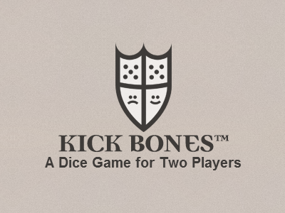 Kick Bones Logo and Title game design logo title democratica