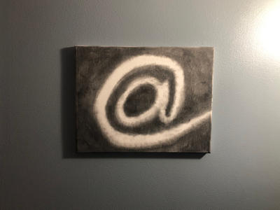 Charcoal on Canvas canvas cotton ball charcoal @