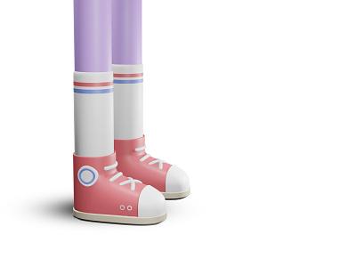 SNKRS design colour boots trainers eevee render blender3d 3d