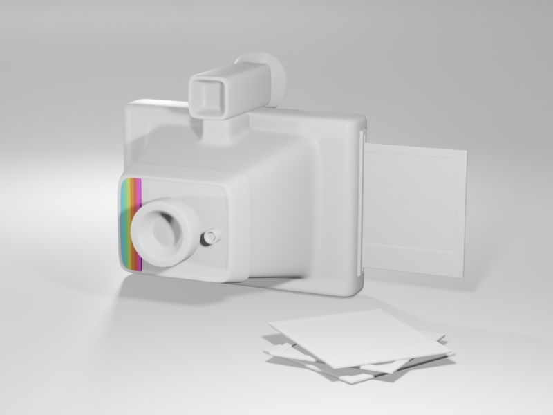 3D Practice colour eevee render blender3d blender retro vintage camera polaroid