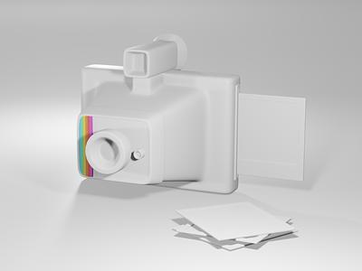 3D Practice colour eevee render blender3d blender retro vintage camera polaroid