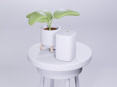 Modelling & Texture Practise cinema4d c4d 3d art minimal illustration plant sonos render eevee blender3d blender