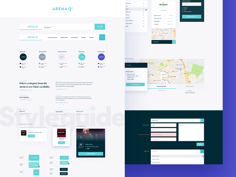 Style Guides ux ui text styleguide style interface guidelines guide flat field colour clean
