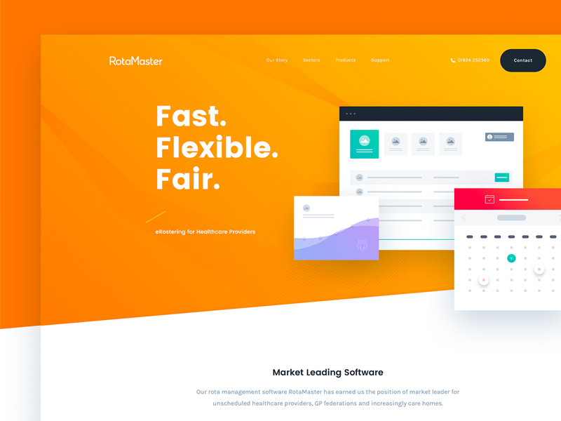 Rotamaster UI Design web ux ui text style interface dashboard flat field design colour clean