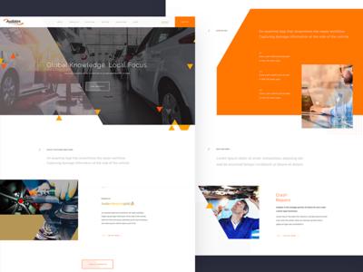Automotive UI navigation ux ui search product interface flat landing colour clean homepage buttons
