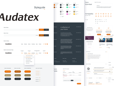 Digital Style Guide landing ux ui styleguide interface guidelines flat product form colour clean