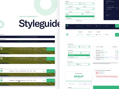 Digital Style Guide ux ui styleguide product landing interface buttons email contact flat colour