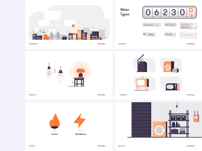 Utility Illustrations Pt.2 clean flat homepage illustration interface isometric landing navigation product search ui ux